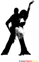 Tanzpaar Silhouette Clipart