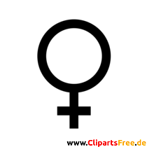 金星のシンボルクリップアート、画像、黒と白のグラフィック無料