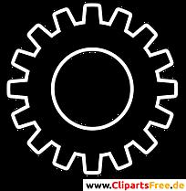 Zahnrad Bild, Symbol. Piktogramm, Clipart