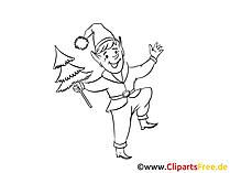 Ausmalbild Silvester