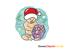 Baby Santa Clipart, Bild, Cartoon gratis
