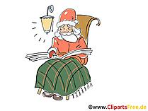 Bild Santa Claus zum Neujahr