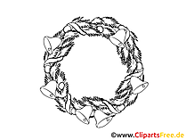 Chsristmas Crown Coloring Sheet