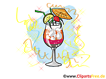 Cocktail Clipart, Bild, Illustration fuer Silvesterkarten