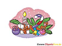 Free Cliparts zu Silvester und Weihnachten