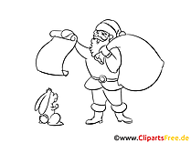 Free Coloring Sheet Santa Claus