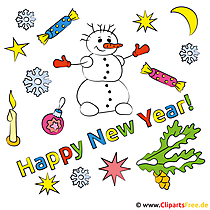 Fröhliches Neues Jahr Bild
