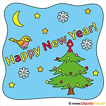 Szczęśliwego nowego roku Clipart