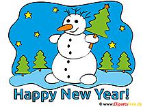 Frohes Neues Jahr Karte