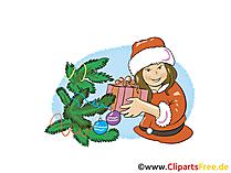 Glueckwunschkarte Silvester Clipart, Bild, Cartoon gratis