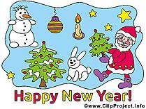 Karte Neujahr
