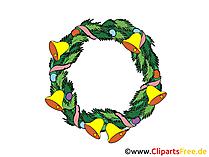Kranz zu Weihnachten und Silvester Bild, Clip Art, Image, Cartoon gratis
