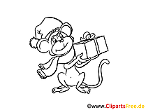 Monkey Coloring Sheet free