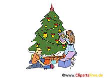 Neues Jahr Bilder mit Tannenbaum