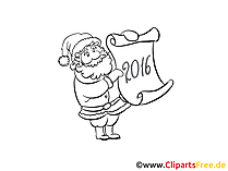 New Year Coloring Sheet