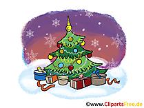 O Tannenbaum Clipart, Bild, Cartoon gratis