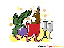 Prosit Neujahr Bild, Clip Art, Image, Cartoon gratis