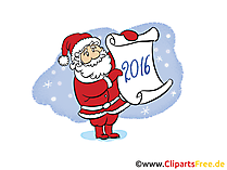 Silvester 2016 Clipart, Bild, Cartoon gratis