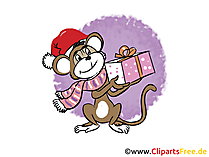 Silvester Clipart, Bild, Cartoon gratis