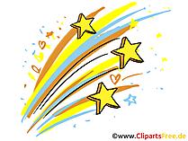 Silvester Cliparts mit Feuerwerk