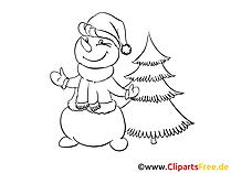Snowman coloring sheet free
