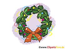 Weihnachtskranz Clipart, Bild, Cartoon gratis