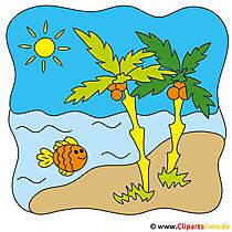 Beach Clip Art - Sommer Bilder gratis