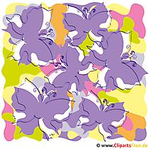 Bunte Schmetterlinge Clipart - Sommer Cliparts free