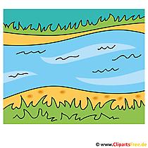 Fluss Clipart - Lizenzfreie und kostenlose Bilder zum Sommer