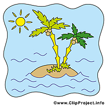 Insel Clipart - Sommer Bild