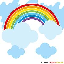 Regenbogen Clipart gratis