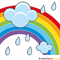 Regenbogen und Regenwolgen Bild-Clipart