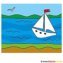 Segelschiff Clip Art - Lizenzfreie und kostenlose Bilder zum Sommer