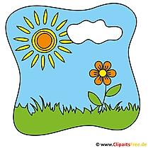 Sommer Cliparts -  Blume auf der Wiese
