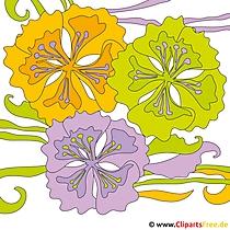 Sommer Cliparts - Blumen Bilder