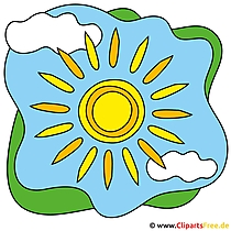 Sonne Cartoon Clip Art free