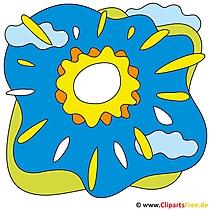 Sonne im Himmel Cliparts free