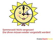 Zeitumstellung Sommer Bild, Clipart, Image, Illustration