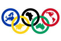 Cincin Olimpiade 2021 dengan Ilustrasi Arti Benua PNG