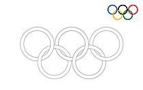 Cincin Olimpiade 2021 untuk pencetakan dan pewarnaan clipart
