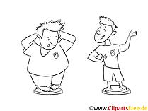 Înainte și după pierderea în greutate - clipart alb-negru, ilustrații, imagini