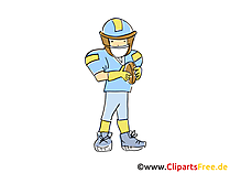 Amerikaans voetbalafbeelding, Sport Clipart, Strip, Cartoon, Afbeelding gratis