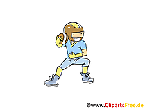 Amerikanischer Fussball Bild, Sport Clipart, Comic, Cartoon, Image gratis