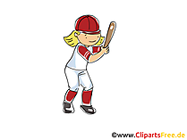 Baseball Bild, Cliparts Sport, Comic, Cartoon, Image gratis