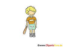 Beyzbol oyuncusu görüntüsü, spor klip, çizgi film, çizgi film, resim ücretsiz