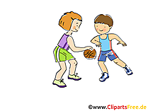 Basketball Bild, Clipart, Comic, Cartoon, Image gratis