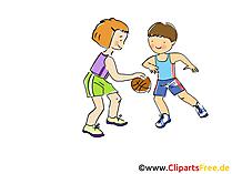 Basketbol Görüntüsü, Küçük resim, Komik, Çizgi Film, Görüntü bedava