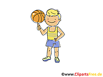 Basketball Spieler Bild, Cliparts Sport, Comic, Cartoon, Image gratis