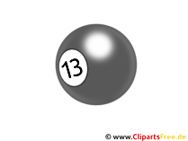 Biljartbal 13 - PNG Clipart Transparant