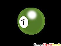Biljartbal 7 Clipart